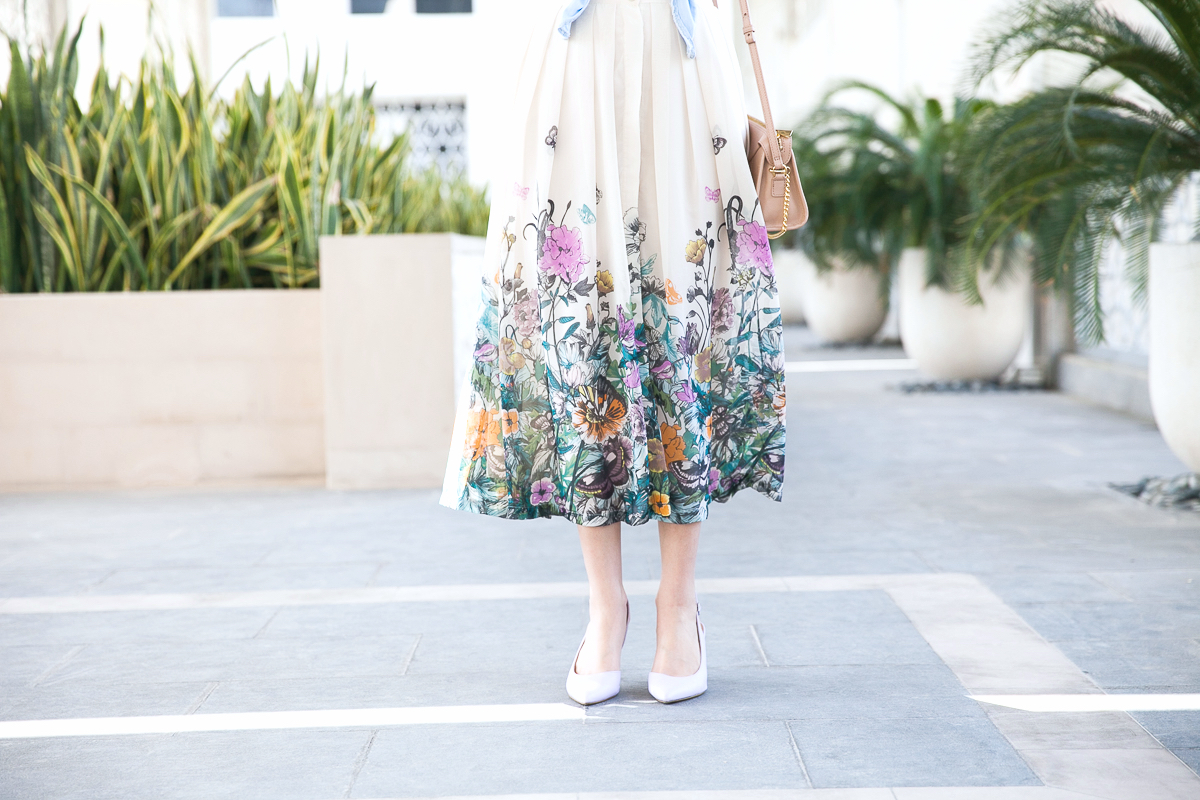 Blossoming Midi Skirt