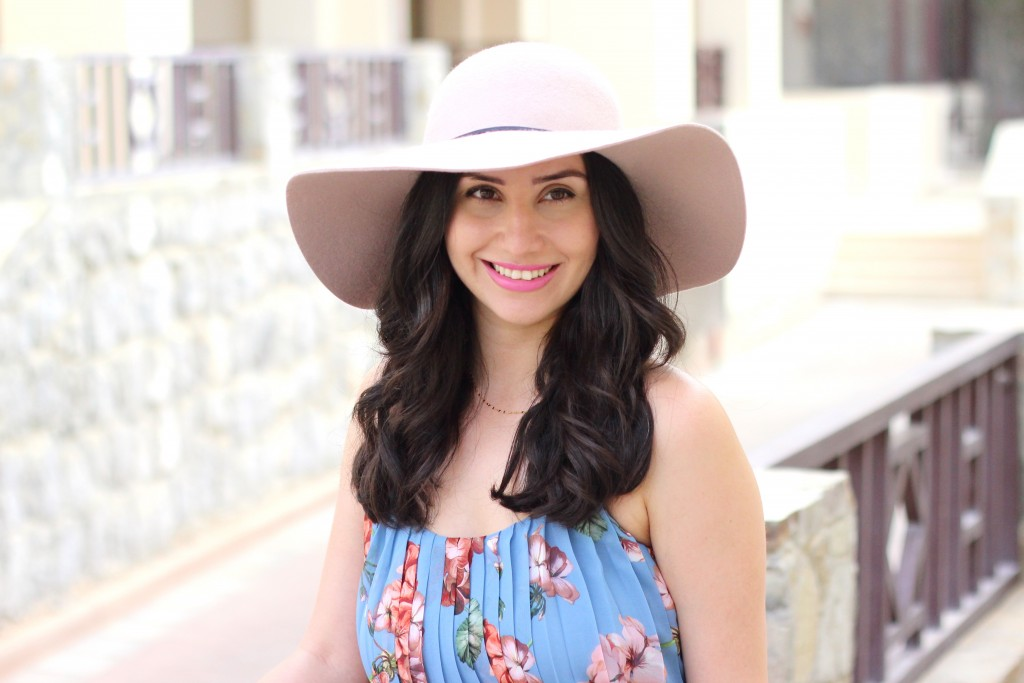 Mauve Floppy Hat