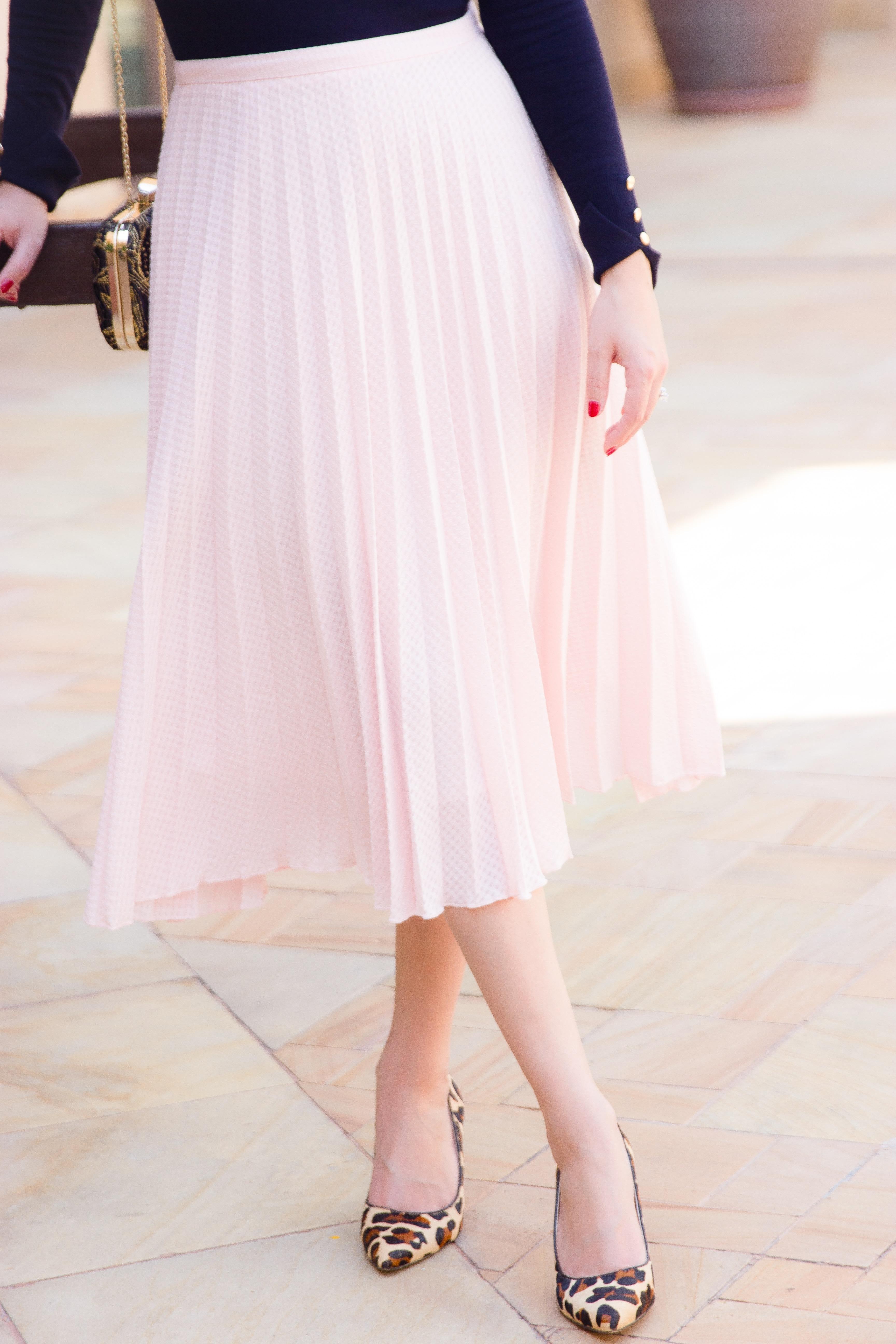 Pink Asos Midi Skirt