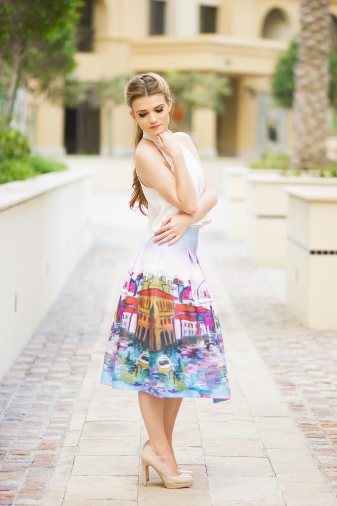 Retro Midi Skirt