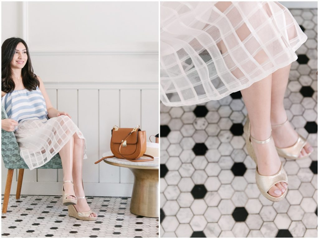 White Checkered Skirt