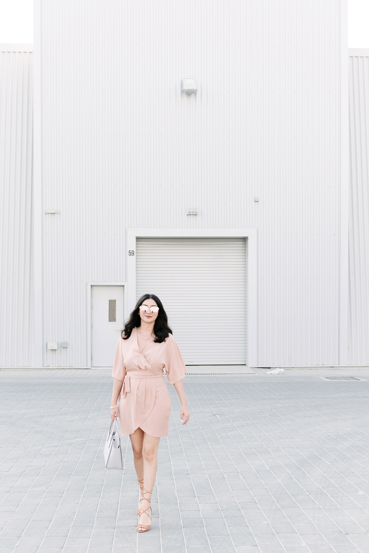 Nude Wrap Dress Misguided