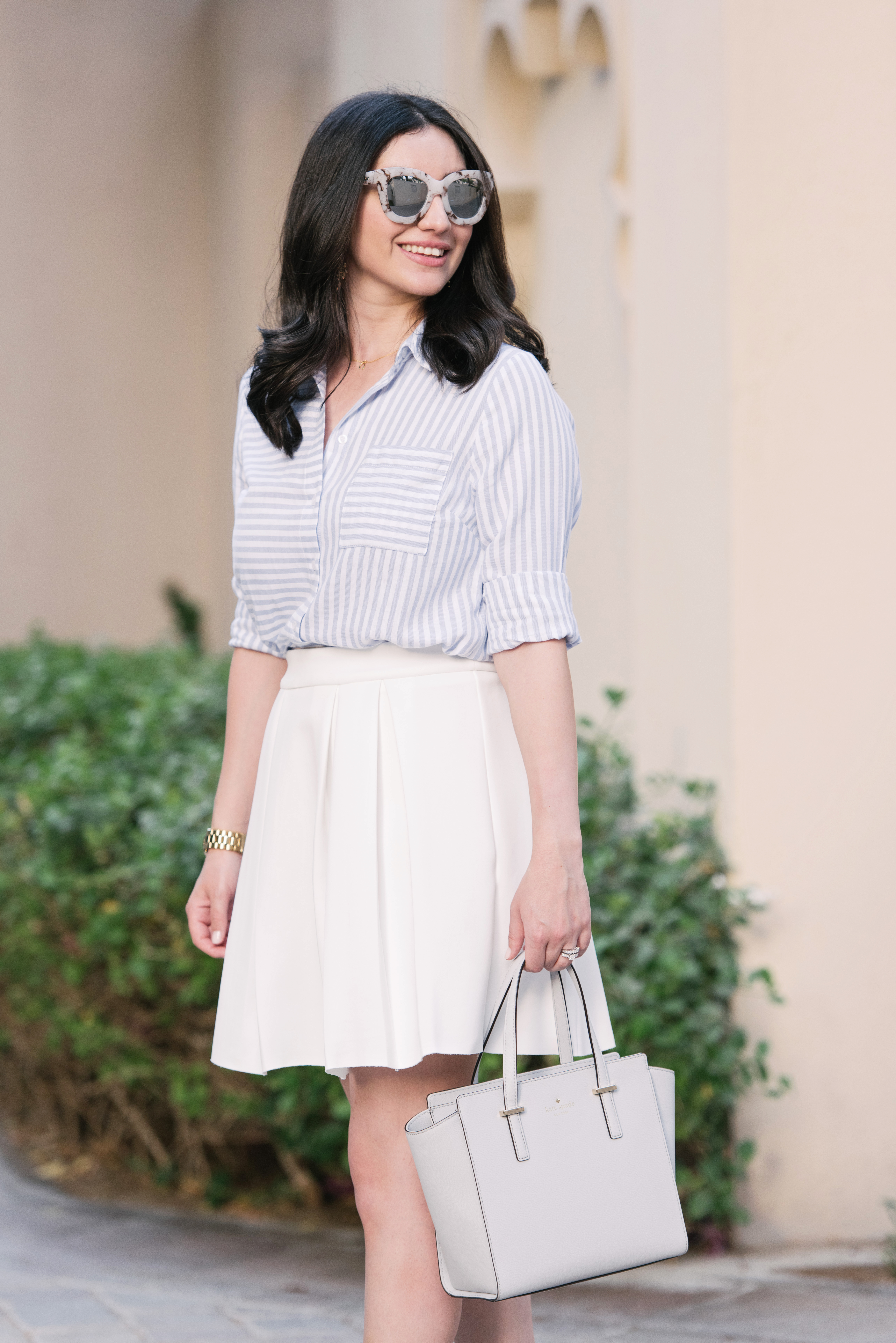 Little White Box Pleated Skirt