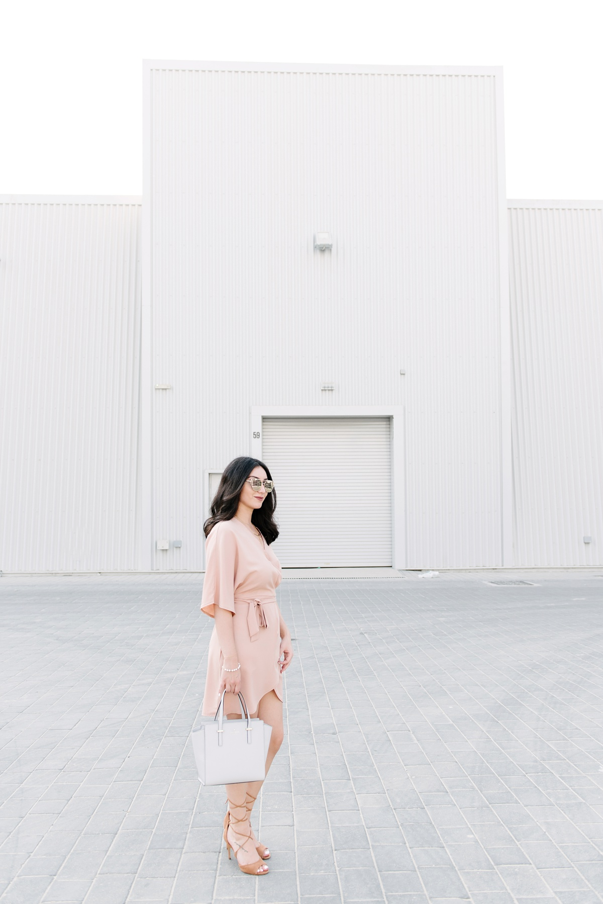 Missguided Nude Wrap Dress